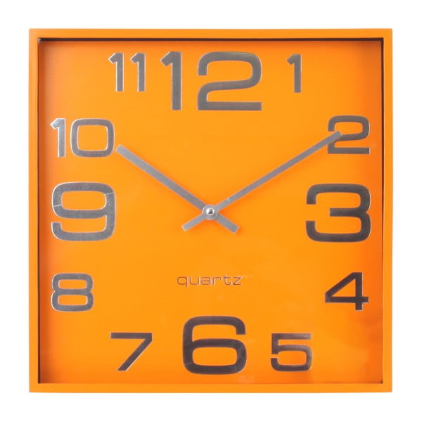 Nástěnné hodiny Plastic Orange