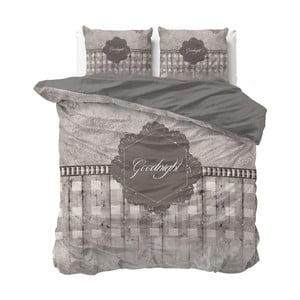 Lenjerie de pat din micropercal Sleeptime Goodnight, 200 x 220 cm, maro