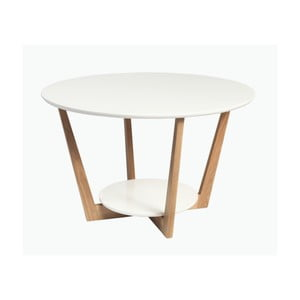 Dubový konfereční stolek  Folke Loki, ⌀ 80cm