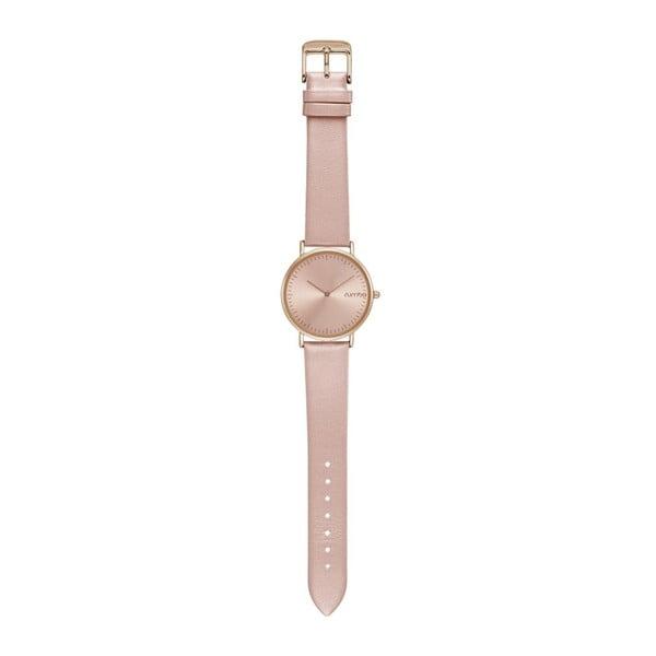 Ceas cu curea din piele Rumbatime SoHo, roz auriu