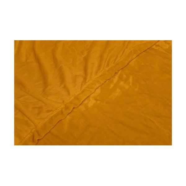 Cearceaf din micropluș My House, 90 x 200 cm, galben miere