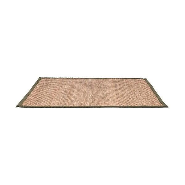 Jutový koberec se zeleným bavlněným detailem LABEL51, 160x230cm