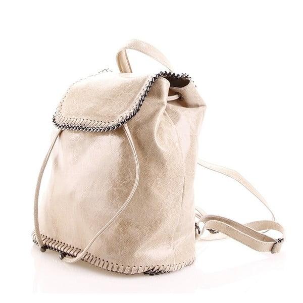 Kožený batůžek Emily, pískový
