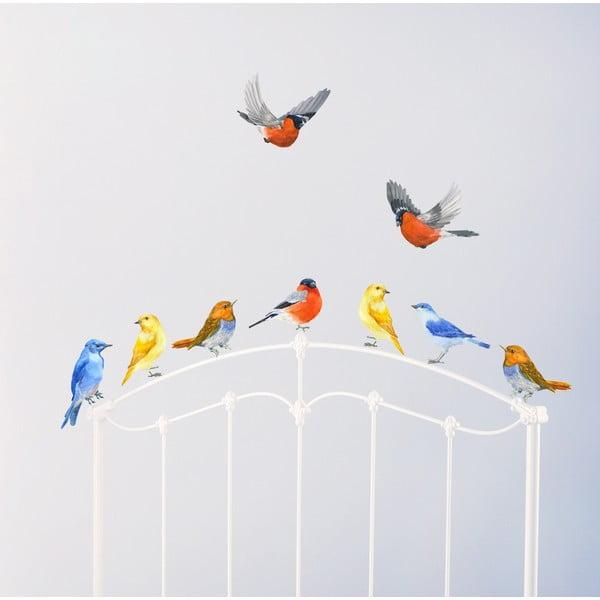 Znovu snímatelná samolepka Watercolour Birds, 30x21 cm