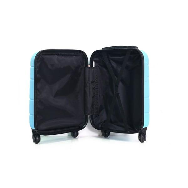 Tyrkysově modrý cestovní kufr na kolečkách Hero Santiago,30l