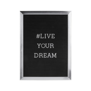 Šedý fotorám nápisem PT LIVING Quote, 30 x 40 cm