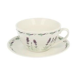 Porcelánový hrnek s podšálkem Duo Gift Lavender, 300ml