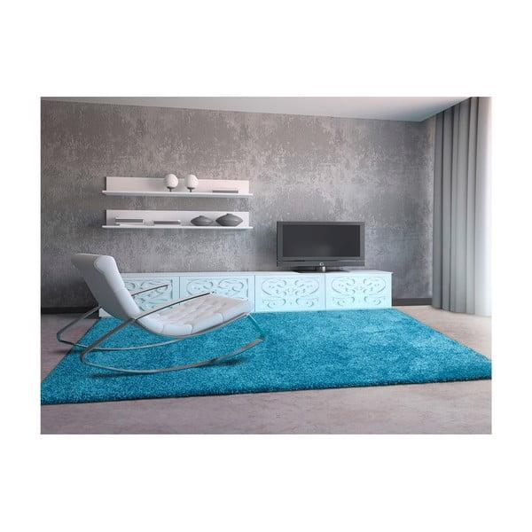 Modrý koberec Universal Aqua, 125 x 67 cm