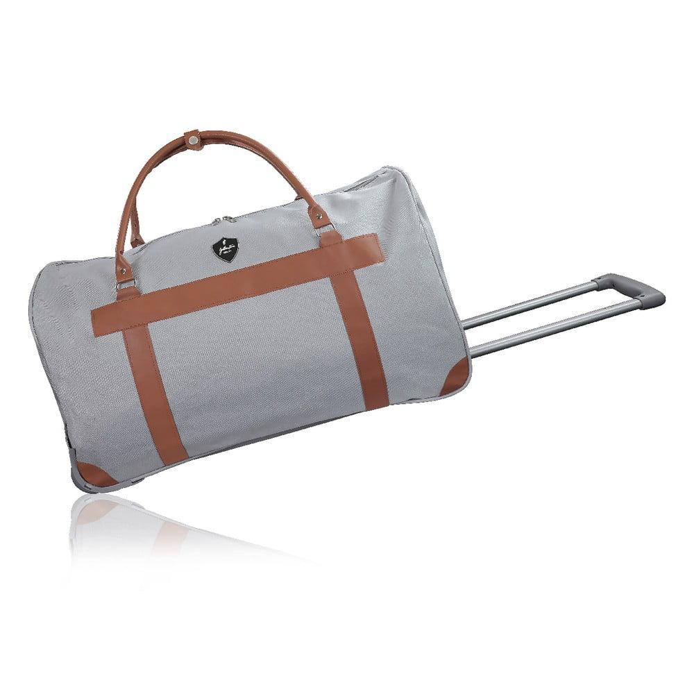 Šedá cestovní taška na kolečkách GENTLEMAN FARMER Oslo, 93 l