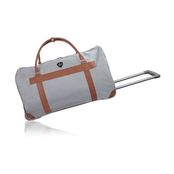 Sivá cestovná taška na kolieskach GENTLEMAN FARMER Oslo, 93 l