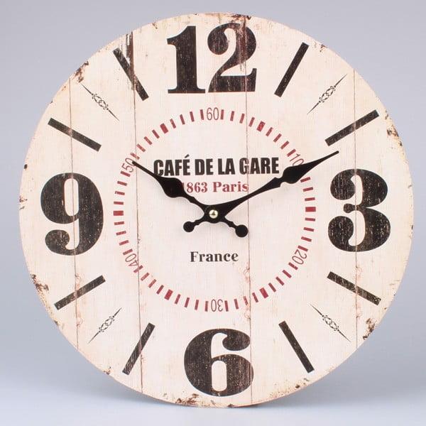 Dřevěné hodiny Café De La Gare