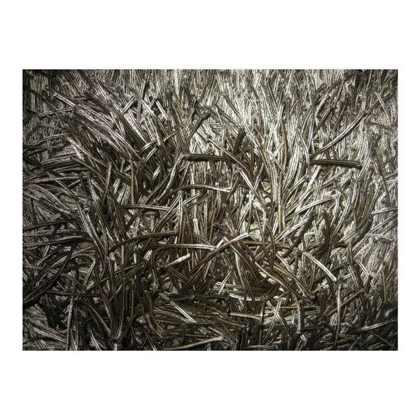 Béžový ručně tkaný vlněný koberec LinieDesign Dishy, 170x240cm