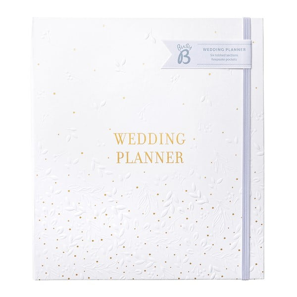 Biały planer ślubny z kieszeniami Busy B