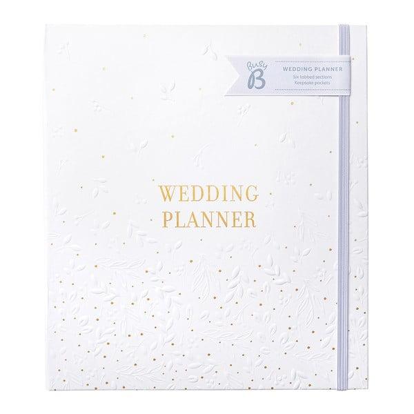 Planificator de nunta cu buzunare pentru depozitare Busy B,alb