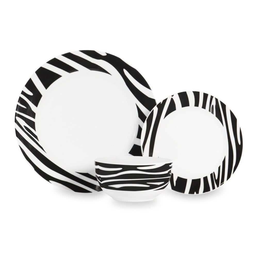 12dílná sada nádobí Sabichi Zebra