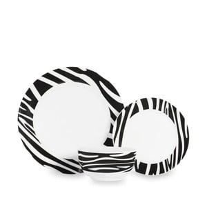 Set veselă din porțelan Sabichi Zebra, 12 buc.