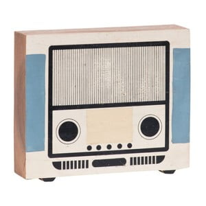 Decorațiune din lemn în formă de radio Vox Kids