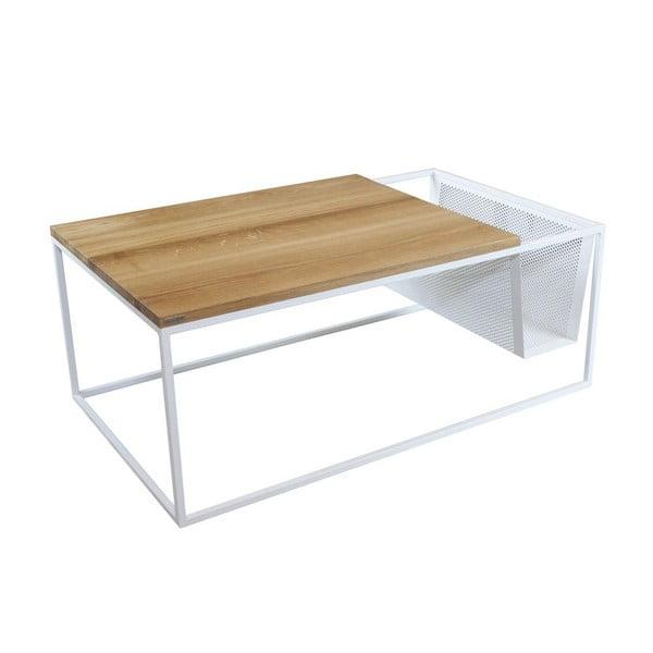 Odkládací stolek se stojanem na noviny Performa White