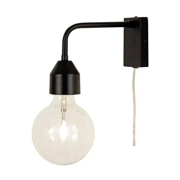 Černé nástěnné svítidlo Scan Lamps Flynn