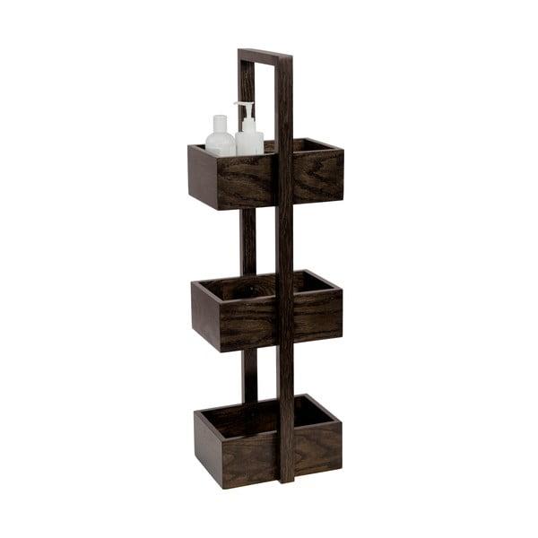 Dřevěný stojan do koupelny Wireworks Caddy Mezza Dark, 84 cm