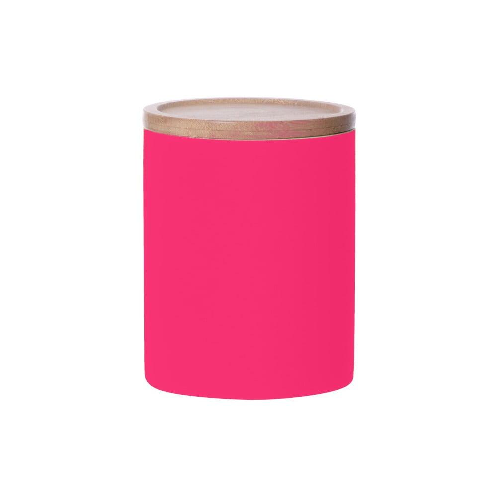 Růžová dóza Karlsson Silk Neon Large