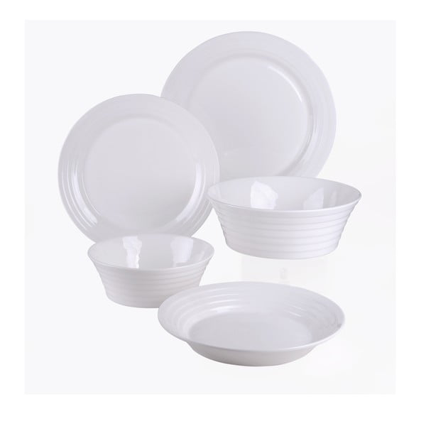 Vzorovaná sada talířů a mís, 15dílná