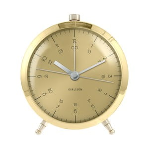 Ceas de birou și masă Present Time Button Plated