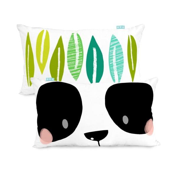 Dwustronna poszewka na poduszkę Moshi Moshi Panda Garden, 50x30cm