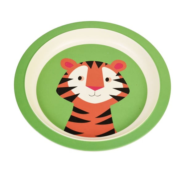 Farfurie din bambus pentru copii Rex London Teddy the Tiger