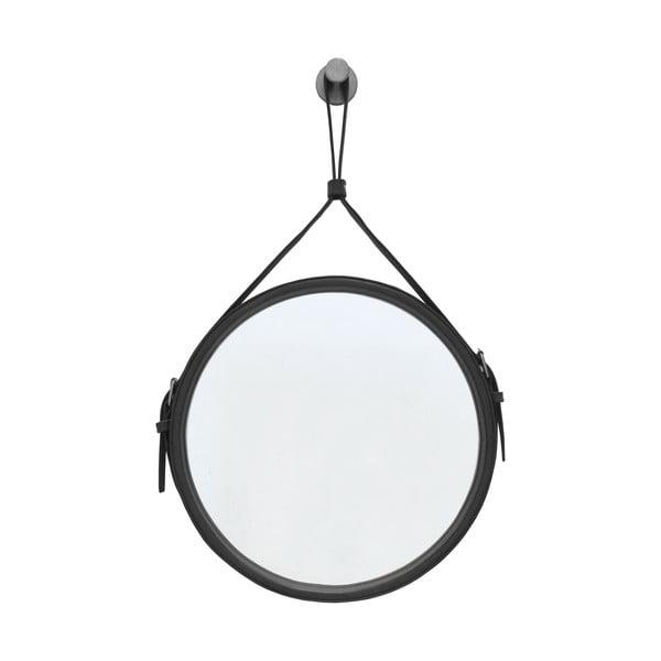 Závesné zrkadlo v čiernom ráme RGE Elvis, ø 30 cm
