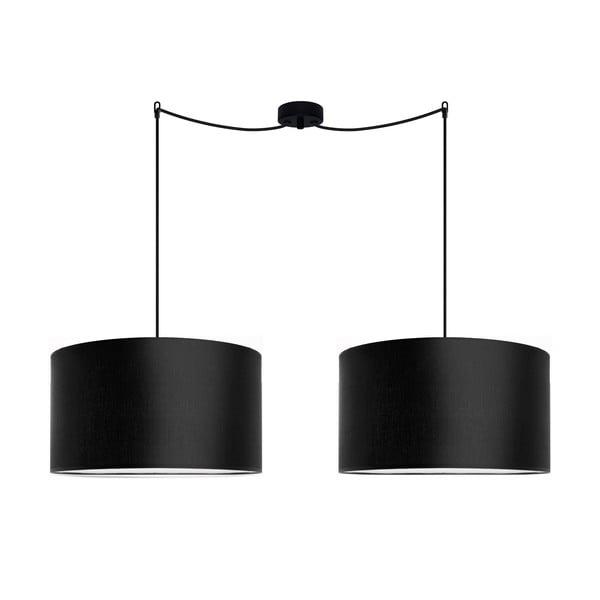 Sada dvou černých závěsných svítidel Bulb Attack Tres, ⌀ 40 cm