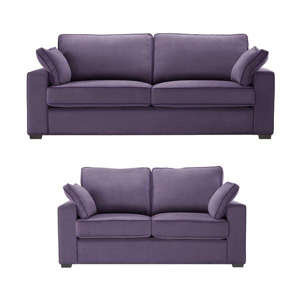 Dvoudílná sedací souprava Jalouse Maison Serena, fialová