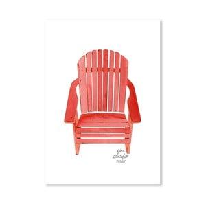 Autorský plakát Adirondack Chair, 30x42 cm