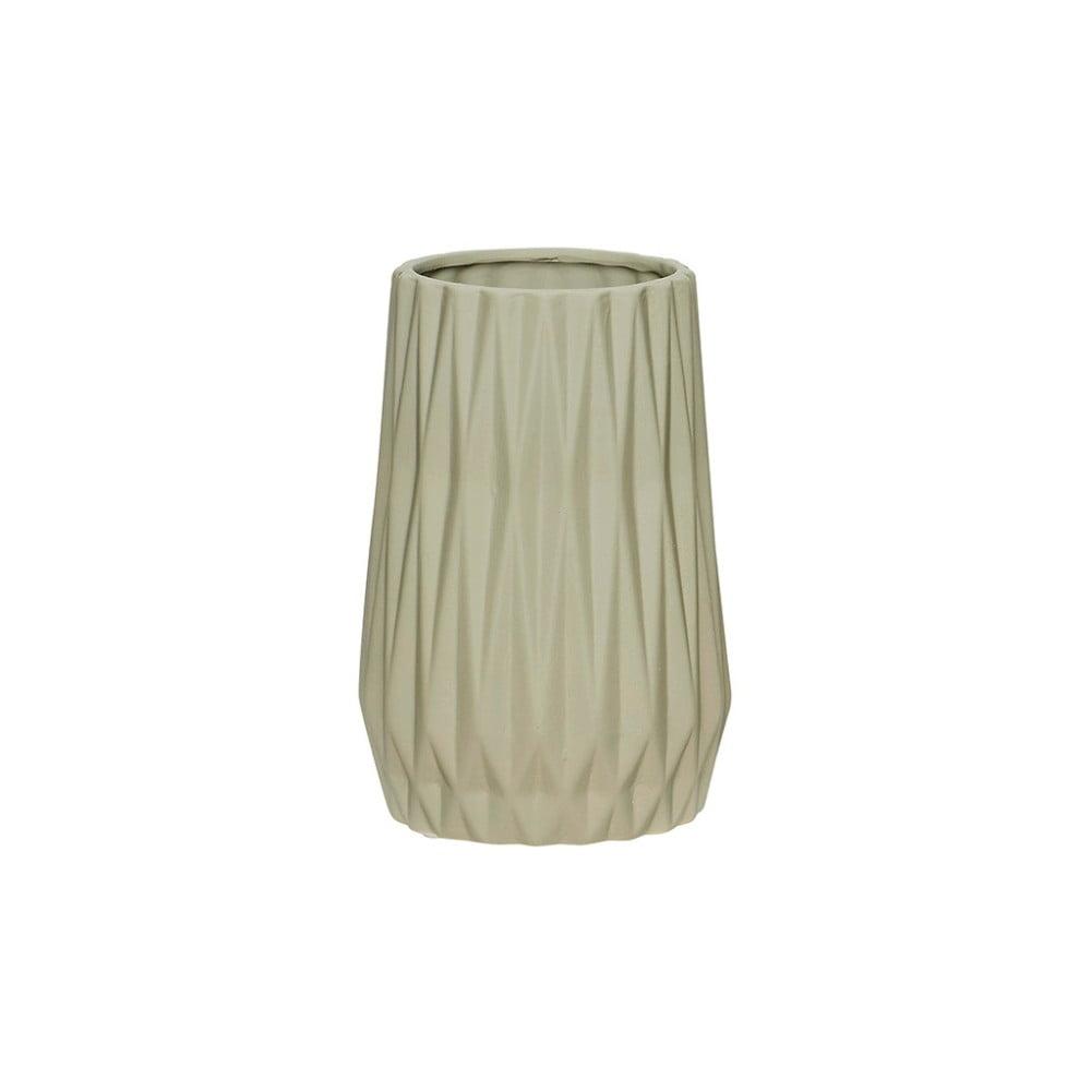 Šedá keramická váza Hübsch Ditmer