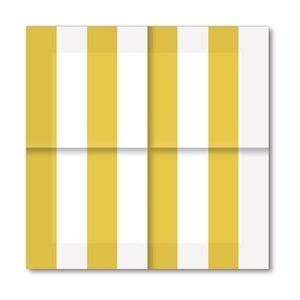 Papírové ubrousky Gold Stripes, 20 ks