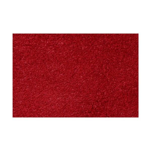 Červená předložka do koupelny Confetti Miami, 80 x 140 cm