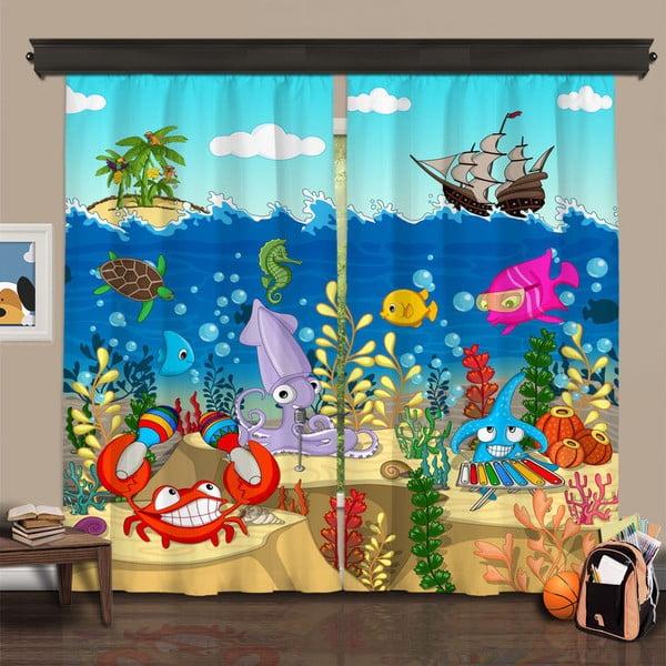 Zestaw 2 zasłon Curtain Rehne, 140x260 cm