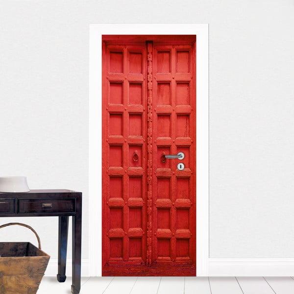Červená samolepka na dveře Eurographics