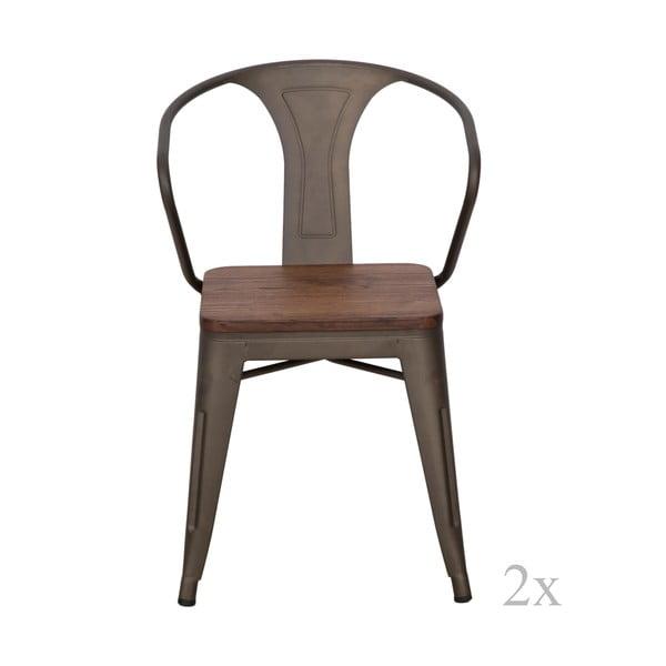 Sada 2 jídelních židlí Mauro Ferretti Detroit