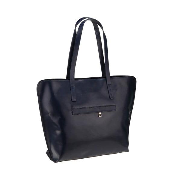 Tmavě modrá kožená kabelka Florence Vega