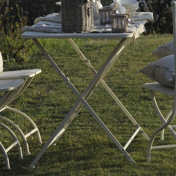 Kovový stolek Luxe, slonovinová kost