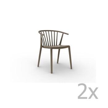 Set 2 scaune Resol Woody, maro ciocolată