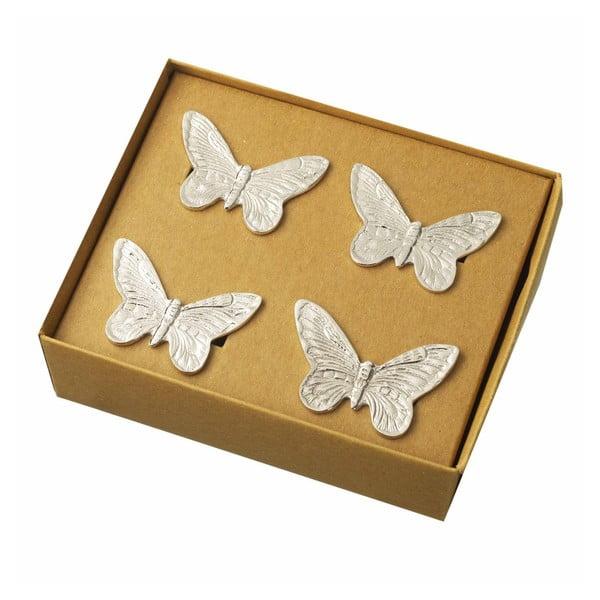 Sada 4 kroužků na ubrousky Parlane Butterfly