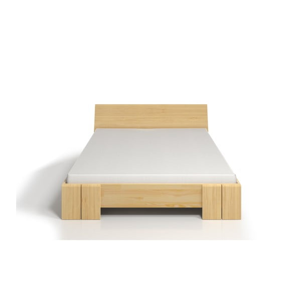 Pat dublu din lemn de pin, cu spațiu de depozitare, SKANDICA Vestre Maxi, 140 x 200 cm
