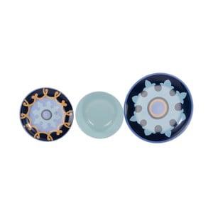 Sada 18 porcelánových talířů Zafaf Bluebird