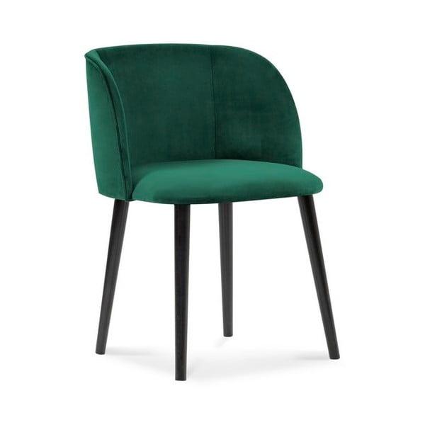 Scaun cu înveliș de catifea Windsor & Co Sofas Aurora, verde