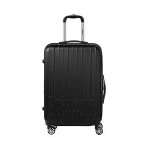 Černý cestovní kufr na kolečkách s kódovým zámkem SINEQUANONE Chandler, 71 l