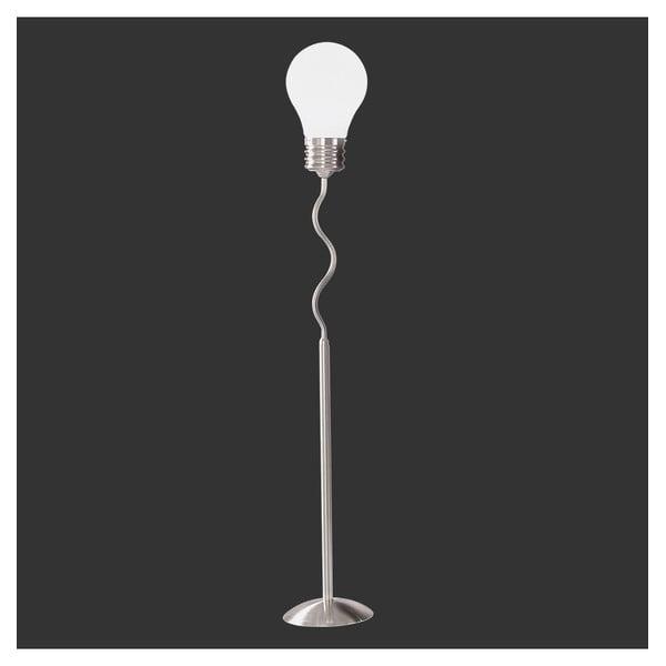 Stojací lampa z opálového skla Trio Edison, výška 1,79 m