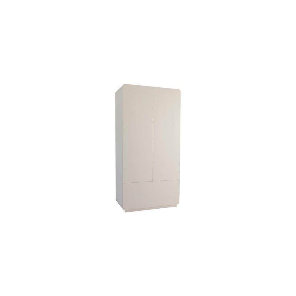 Bílá šatní skříň Núvol Edurne