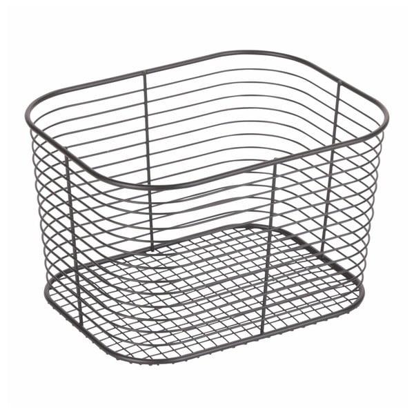 Coș pentru depozitare iDesign Wien, 23,8 x 18,6 cm, negru